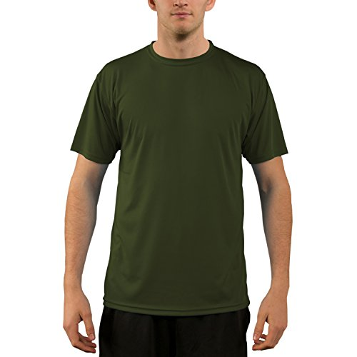 - Vapor Apparel Men's UPF 50+ UV Sun Protection Performance Short Sleeve T-Shirt Medium OD Green