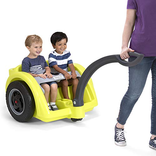 Simplay3 Trail Master 2-Seat Wagon for Children - 2 Wheel Easy Turn Grass Dirt Hiking Trail Lap Bar Water Bottle Holders Storage Removable ()