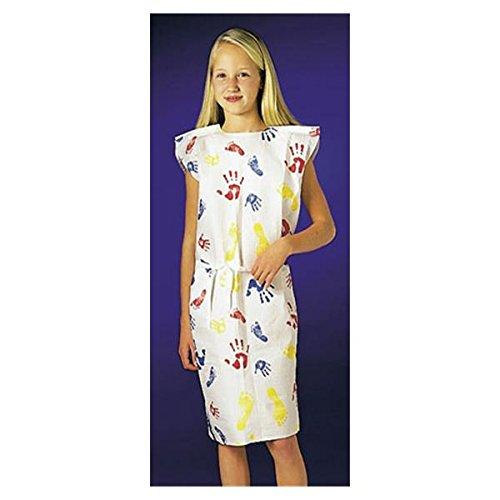 WP000-PT 37235 37235 Gown Exam Tiny Tracks Paw Print T Pediatric 36x20'' 50/Ca Graham Medical