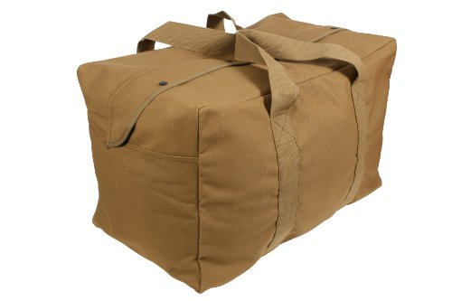 Rothco Canvas Parachute Cargo Bag, Coyote