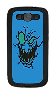 Samsung Galaxy S3 Case and Cover-Whack Attack Blue TPU Case Cover for Samsung Galaxy S3 / SIII / I9300 Black