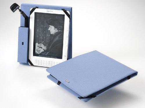 Periscope Flip Cover+Light for the Kindle DX in Steel Blue Microfiber by Periscope