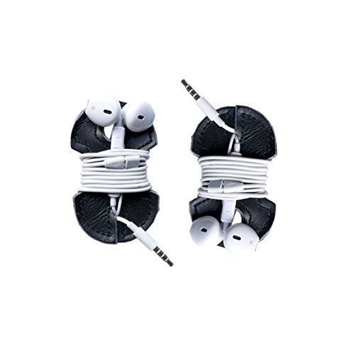 Leather Headphone Wrap 2-Pack Handmade by Hide & Drink :: Black by Hide & Drink