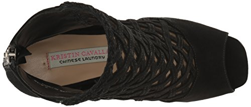 Luxembourg Laundry Suede Chinese Kristin Cavallari Bootie Ankle Black Women's wI8qU8d