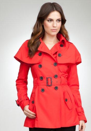 bebe Cape Trench Coat