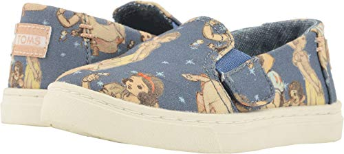 TOMS Kids Baby Girl's Luca Disney¿ Princesses (Infant/Toddler/Little Kid) Blue Snow White Printed Canvas 7 M US Toddler]()