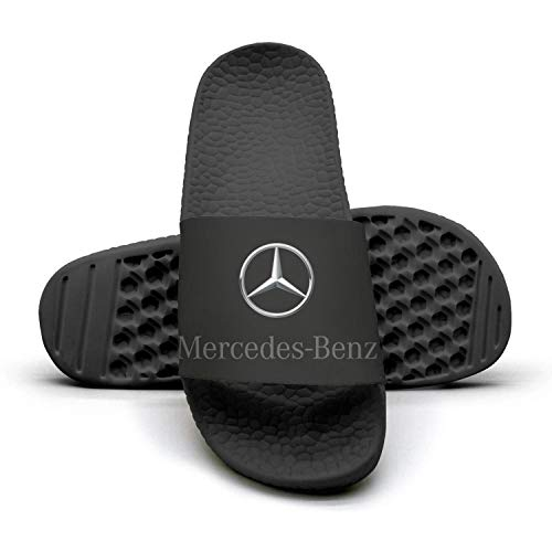 Printed Non-slip slippers slides flip flop sandals Mercedes-Benz-logo-symbol-emblem-summer Comfortable for womens ()