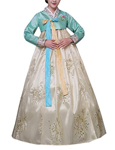 The Korean Traditional Costume (Lemail wig Women's Korean Traditional Long Sleeve Hanboks Dress Cosplay Costume)