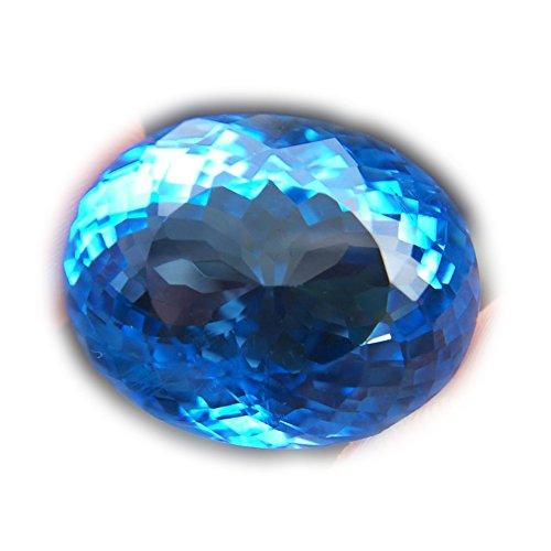 Lovemom 35.83ct Natural Oval Coating Blue Topaz Brazil #B