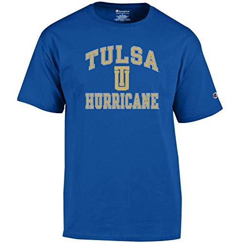 Champion NCAA Men's Shirt Short Sleeve Officially Licensed Team Color Tee, Tulsa Golden Hurricane, Small (Ncaa Football Tulsa)