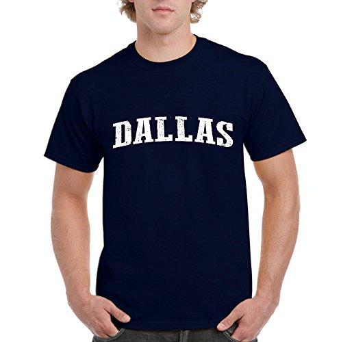 Mom`s Favorite Texas State Flag Proud Texan Dallas Traveler`s Gift Men's Short Sleeve T-Shirt (SNB) Navy Blue ()