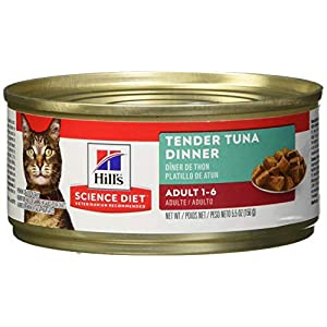 Hill's Science Diet Wet Cat Food, Adult, Tender Tuna Recipe, 5oz Cans, 24 Pack 94