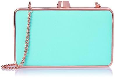 Oroton Women's Estate Splice Box Clutch Wallet, Turquoise, One Size