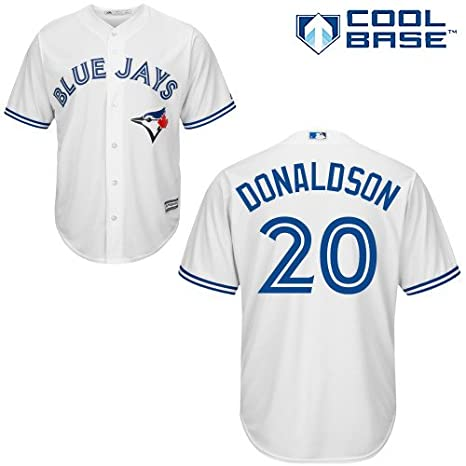39fc023a6 Amazon.com   Majestic Josh Donaldson Toronto Blue Jays  20 MLB Youth Cool  Base Home Jersey (Youth Large 14 16)   Sports   Outdoors