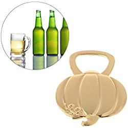 Bettal Bottle Opner, Golden Pumpkin Bottle Opener For Bridal Shower Wedding Favor Halloween
