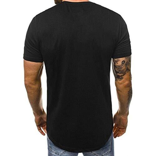 Camisetas de Manga Cortas para Hombre Moda Casual Verano ...