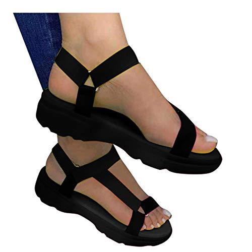 AOKASII Summer Sandals for Women,Womens Sandals Casual Platform Comfortable Shoes Beach Travel Flip Flops