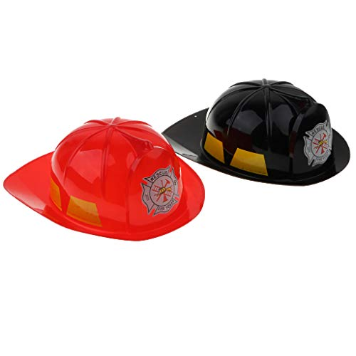 2pcs Fire Chief Firefighter Hat - Cool and Fun Child Size Fireman Hat - Theme Party Favor, Holidays, Halloween Costumes, Gifts, Parties, Toys ()