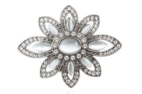 Rhinestone Flower Perforated Belt - Fashion Belt Rhinestone Buckle
