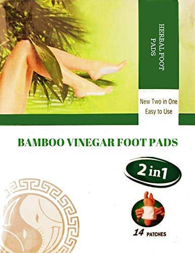 Bamboo Vinegar 2 In 1 Herbal Foot Pads (14 Patches)