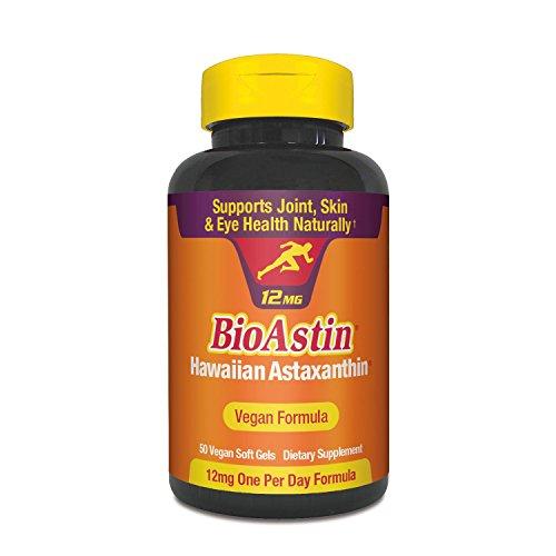 BioAstin Hawaiian Astaxanthin - Vegan Formula - 12mg, 50ct -Supports Recovery from Exercise + Joint, Skin, Eye Health Naturally - 100% Hawaiian Sourced Premium Antioxidant