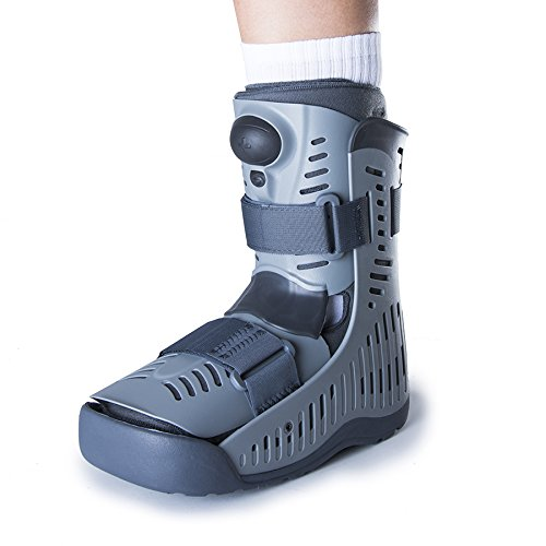 Ossur Rebound Air Walker Boot Low Top - Medium - with Compression Adjustable Comfortable Straps and Air Pump Rocker Bottom Ventilated Panels for Ankle Sprains Fractures Tendon Ligament Post-Op Rehab by Ossur (Image #2)