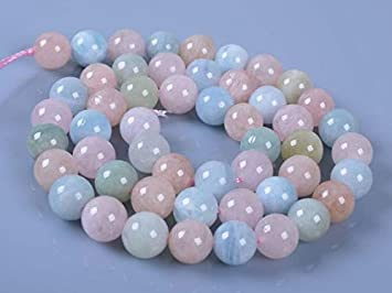8MM  Aquamarine round ball loose gemstone beads 16