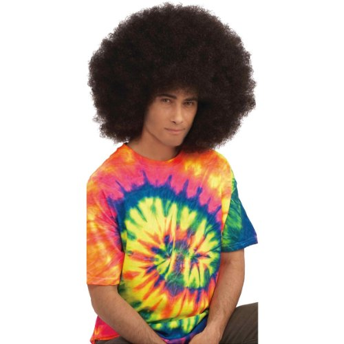 Forum Novelties Men's Deluxe Mega Fro Wig-Brown Party Supplies, Standard 65426