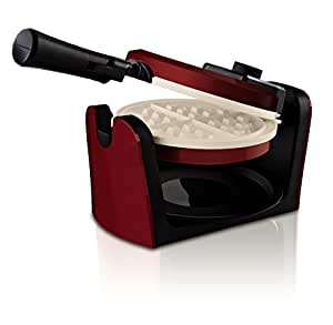 Oster DuraCeramic Flip Waffle Maker CKSTWFBF10MR-ECO, Candy Apple Red