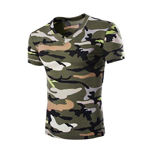 197bca3d6f VENMO Moda de Verano Camiseta de Manga Corta de Camuflaje de los Hombres  50%OFF