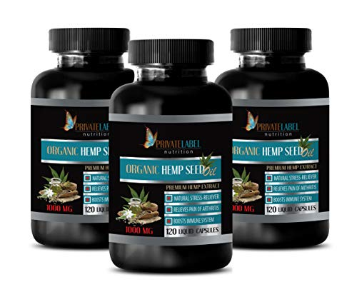 Immune System Booster Immune Support - Organic Hemp Seed Oil 1000MG - Hemp Seed Oil Dietary Supplement - 3 Bottles 360 Liquid Capsules by PRIVATE LABEL LLC (Image #7)