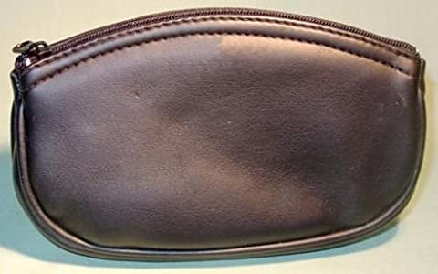 Vinyl Zipper Smoking Pipe Full Size Tobacco Pouch Holds 2 oz (Brown) - 2 Oz Pipe Tobacco