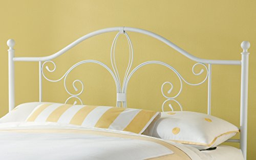 Bergshoeff Textured White Full/Queen Bed Headboard (White Iron Beds Wrought)