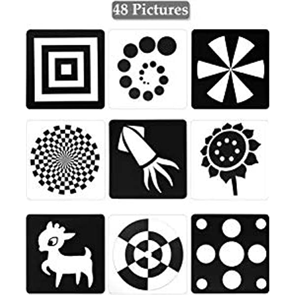 BLACK /& WHITE STIMULATION ANIMALS COLOURS SHAPES NUMBERS A-Z BABY FLASH CARDS