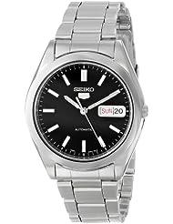 Seiko Mens SNX997 Seiko 5 Black Dial Stainless Steel Automatic Watch