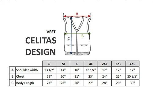 CELITAS DESIGN Alpaca Vest Golf Sweater Jersey BRIAD Burgundy V Neck Buttons and Pockets Made in Peru L by CELITAS DESIGN (Image #1)