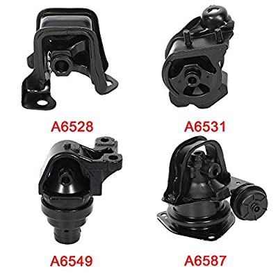 LSAILON Engine Motor and Trans Mounts Kit Front Rear Transmission Mount Compatible for 1994 1995 1996 1997 Honda Accord(4PCS): Automotive
