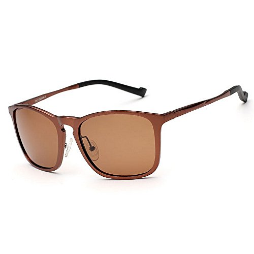 de 400 Protección Marco polarizadas Yxsd Brown Brown SunglassesMAN UV Hombre Color Aviator Gafas para de Sol vaTAW