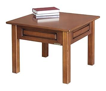 Arteferretto Table Basse Carrée De Salon 61x61 Cm En Bois Petite