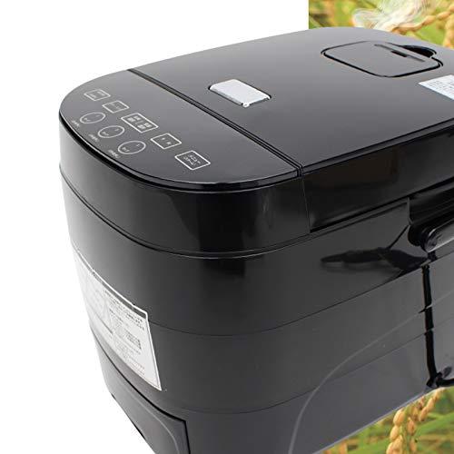 多機能 炊飯器 5合炊き マイコン式 糖質カット機能搭載 ダイエット ヘルシー フード スチーム調理機能搭載 レシピ 食品 おしゃれ ブラック