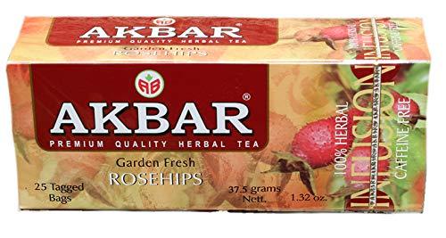 Akbar Garden Fresh Rosehips Infusion 25 bolsas de té: Amazon ...
