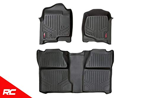 - Rough Country Floor Liners Fits 2007-2013 [ Chevy ] Silverado [ GMC ] Sierra Crew Cab Bucket Front/Rear M-20713