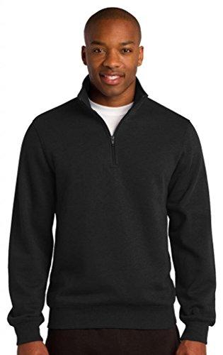 Sport-Tek Men's 1/4 Zip Sweatshirt XL Black ()