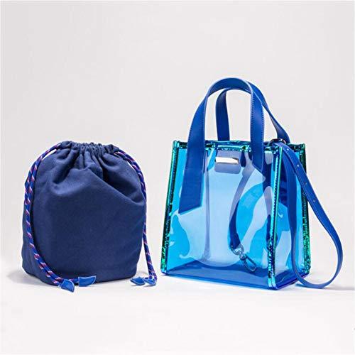 De Main Blue à tout De Transparent Capacité Sac Fourre De PVC Main Sac Sac Femmes D'embrayage Sacs Grande Laser Paquet Gel Sacs Transparent PB5qwpxw