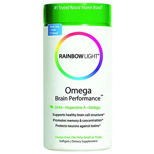 Rainbow Light Omega Brain Performance Multivitamins, 400mg Softgels, 60 Count