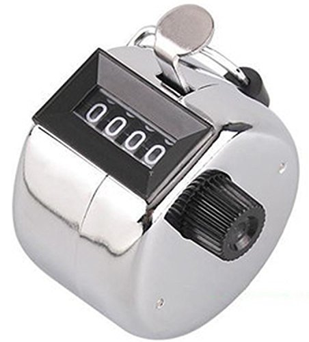 TheWin Hand Held Tally Digit Mechanical Clicker Counter,Silver
