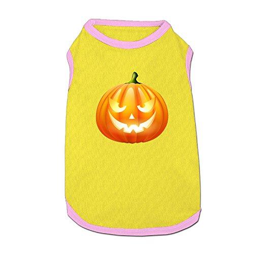 Clipart Halloween Costumes (Mushanxiang Halloween Pumpkin PNG Clipart Image Summer Cute Sleeveless Doggy Pet Costume T-Shirt Pet Clothes Petwear For Cat Dog L)