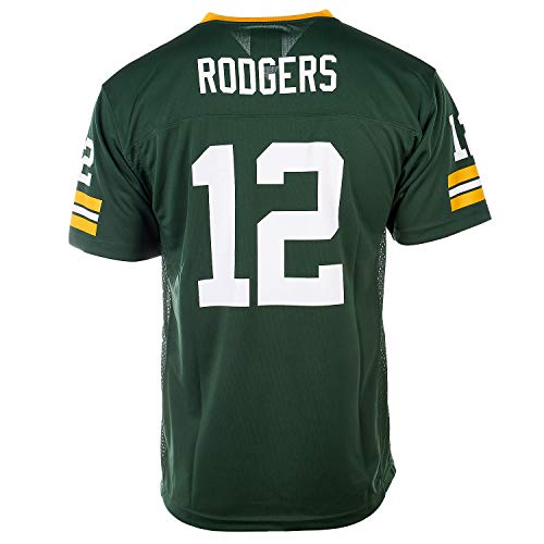 Outerstuff Aaron Rodgers Green Bay Packers NFL Youth Green Home Mid-Tier Jersey (Youth Large 14-16)