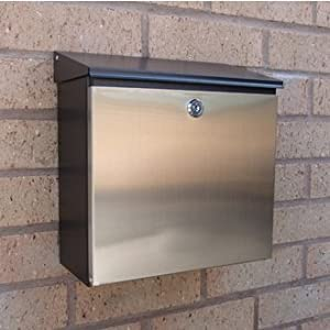 Rio Letterbox - galvanised steel with black finish and stainless steel drop down door & Rio Letterbox - galvanised steel with black finish and stainless ... Pezcame.Com