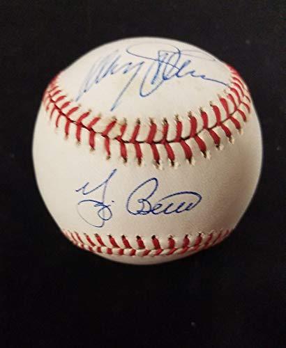 Yogi Berra & Davey Johnson Autograph Signed OBNL Baseball Met Yankees Cert - JSA Certified - Autographed Baseballs